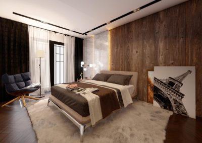 Tipi B dhome gjumi Render 5